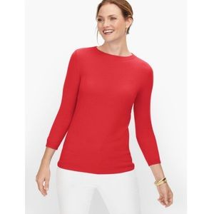 NEW TALBOTS PURE CASHMERE AUDREY SWEATER RED